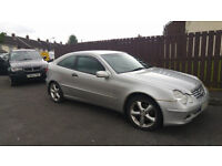 Mercedes Benz 2004 C220, Diesel, cheap tax/insurance £1245 .o.n.o. (PRICE REDUCTION)
