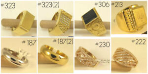 (Tracadie) NEW White/Yellow Gold Filled Mens&Womens Rings/Bagues