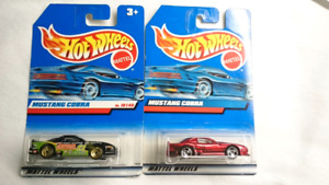HOT WHEELS MUSTANG COBRA DIE CAST 2 CARS
