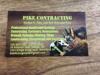 Pike Contracting Professional Handy man services.
