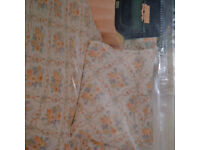 Single floral duvet set, cover and pillow case, unused, in packet,
