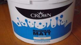 10 litre matt emulsion paint magnolia free to collector