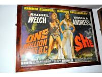 FILM POSTER OF 1 MILLION YEARS BC / SHE THIS IS A BRITISH QUAD POSTER