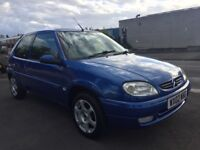 Citroen saxo 1.1 desire 3door 2002 (02) blue new clutch 8months mot