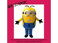 UK Seller | Minion Mascot costume | Full adult outfit | Free Next day delivery | Paypal Accepted