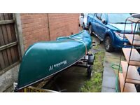 Waterquest 16 ft Canadian Canoe including two paddles, lines and purpose built road trailer