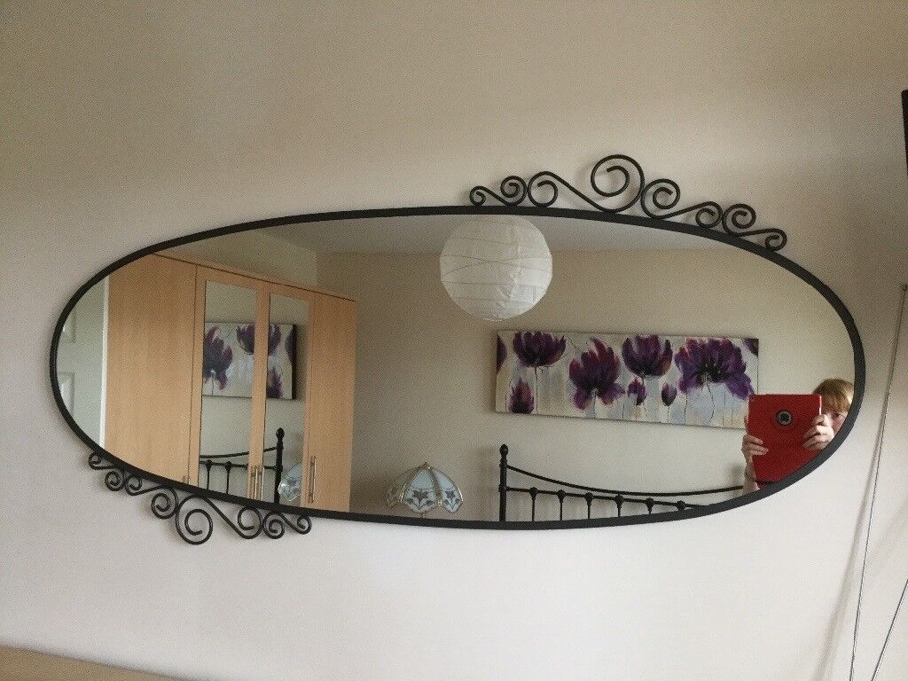 Black Frame Large Oval Mirror Ikea Ekne Design