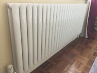 Brand new Designer white gloss oval double radiator