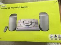 Technika flat bed cd micro hi-fi system- brand new