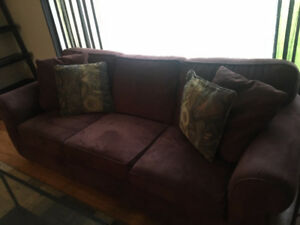 GREAT CONDITION: Microsuede couch