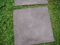 black / grey riven floor tiles by wicks 33cm x 33cm or 13 x 13 inches quanity 29