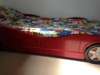 Red car bed frame only