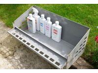 Galvanised metal shelving, ideal shed/garage wall storage