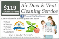 Air Duct Cleaning Special $119*