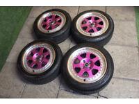 "Genuine ROTA Jmag 15"" Alloy wheels 4x100 Mx5 Eunos Civic EK EG Starlet Glanza Alloys"