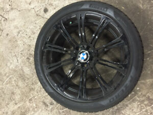 """OEM E9x 19"""" BMW M3 wheels (Style 220) with Tires"""