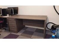 Anthracite with Grey Trim Office Desks with lockable drawers - in excellent condition