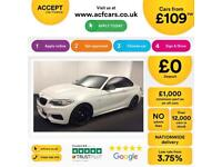 White BMW M2 Auto 326bhp 2014 Leather FROM £109 PER WEEK!