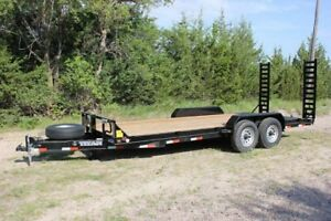 Flat deck car and utility trailers