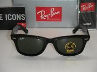 Genuine Ray Ban RB2140 Wayfarer 901 Black Medium 50mm NEW Ealing or Paddington