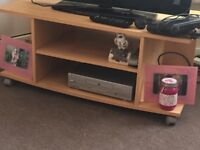 Tv stand good condition light beechwood