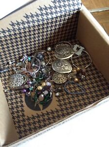 Box of fashion jewelry