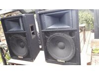 Yamaha full range speakers ideal for dj ing or band musicians