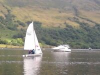 Laser 3000 Sailing Dinghy, with combination trolley/trailer