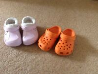 Two almost new crocs size 8-9