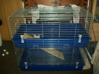 Double indoor dwarf rabbit/guinea pig cage