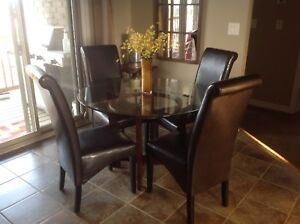 MUST SELL glass top kitchen table