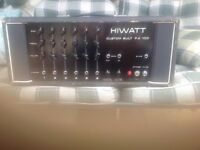 Hiwatt Custom PA 100 vintage 1973 amplifier. This amp sounds great with guitar, bass, or vocals.