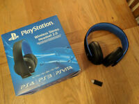 Official Sony PlayStation PS4 PS3 PS Vita Wireless Stereo Headset 2.0