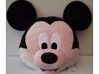 MICKEY MOUSE BIG FACE CUSHION PILLOW THE DISNEY STORE KIDS BEDROOM