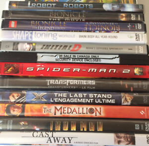 44 DVD MOVIES IN CASES $3.00 EACH OR $40.00 FOR ALL