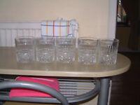 5 x Crystal Whiskey Glasses