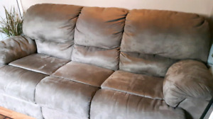 Reclining  couch and two reclining chairs$1000