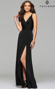 BLACK FAVIANA EVENING GOWN
