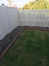 Used Pre Treated Garden Sleepers (Painted Brown)