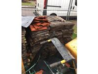 brown redland 49 gritted concrete interlocking 380x 230mm approx roof tiles