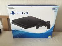 SONY PLAYSTATION 4 SLIM CONSOLE - BRAND NEW AND SEALED PS4
