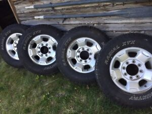 Price Reduced! Rims and tires off 2011 F250 HD.
