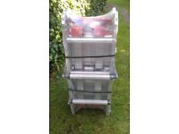10 Way Aluminium Folding Platform Ladder with Extending Legs 1m or 1.3m height. As New. Never used.