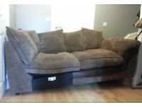 Nice Modern Comfortable 3 Seater Material Sofa Was part of a Corner Sofa Can Deliver