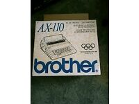 Vintage BROTHER Electronic typewriter rarely used