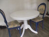 French Shabby Chic Table & Four Chairs