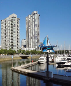 Yaletown, Unobstructed Water View, 2 Bed+ Den +2 Bath+1 Parking