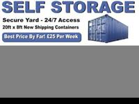 Self storage shipping container rental