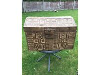 Hand carved wooden box/chest