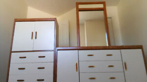 Used Dresser and Wardrobes Set with Mirror
